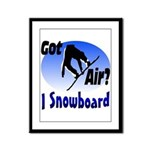 I Snowboard Framed Panel Print