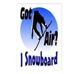 I Snowboard Postcards (Package of 8)