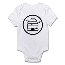 Bee Hive Black and White Infant Bodysuit