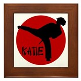 Katie Martial Arts Framed Tile