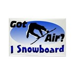I Snowboard Rectangle Magnet (10 pack)