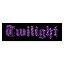 Purple Sparkle Twilight Bumper Bumper Sticker
