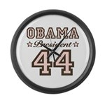 President Obama 44 Large Wall Clock