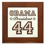 President Obama 44 Framed Tile