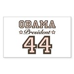 President Obama 44 Rectangle Sticker 10 pk)