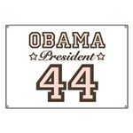 President Obama 44 Banner