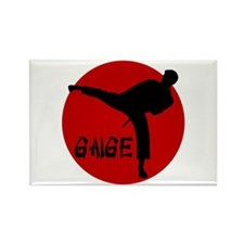 Gaige Martial Arts Rectangle Magnet