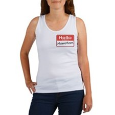 Hello, My name is Mom Mom Women's Tank Top