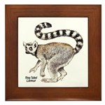 Ring-Tailed Lemur Framed Tile