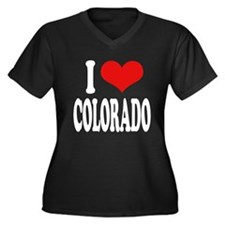I Love Colorado Women's Plus Size V-Neck Dark T-Sh