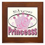 Shoe Princess Framed Tile
