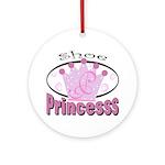 Shoe Princess Ornament (Round)
