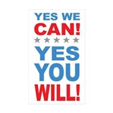 Obama Yes You Will Decal