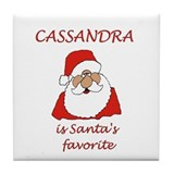 Cassandra Christmas Tile Coaster