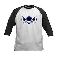 Winged skull blue Tee