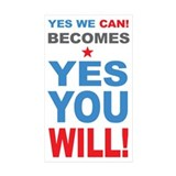 Yes You WIll Rectangle Sticker 10 pk)