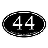 Obama, 44th President Oval Bumper Stickers