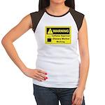 Caffeine Warning Dietary Worker Women's Cap Sleeve