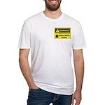 Caffeine Warning Dietary Worker Fitted T-Shirt