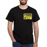 Caffeine Warning Dietary Worker Dark T-Shirt