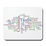 Cute Twelve days of christmas Mousepad