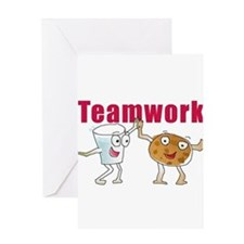 Unique Teamwork Greeting Card