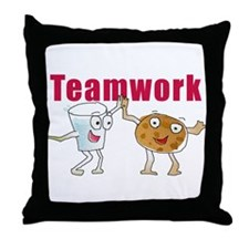 Cute Teamwork Throw Pillow