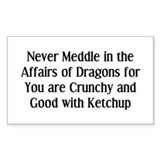 Never Dragons Decal