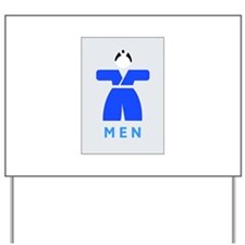 Men toilet, Japan Yard Sign