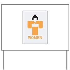 Women toilet, Japan Yard Sign
