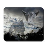 Night Sky Bull Terrier Mousepad
