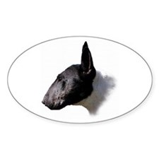 Classic Bull Terrier Oval Decal