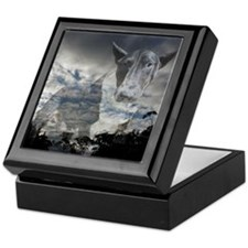 Night Sky Bull Terrier Keepsake Box