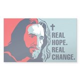 Real Hope. Real Change. Rectangle Decal