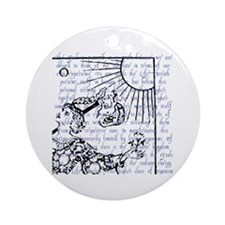 Tarot Key 0 - The Fool Ornament (Round)
