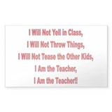 I'm the Teacher Rectangle Bumper Stickers