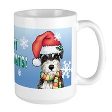 Holiday Miniature Schnauzer Coffee Mug