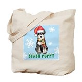 Holiday Miniature Schnauzer Tote Bag