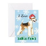 Holiday Wire Fox Terrier Greeting Cards (Pk of 10)