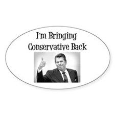Bring Back Conservatism Oval Decal
