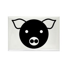 Laughing Pig Rectangle Magnet