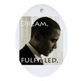 Cute Mlk Oval Ornament