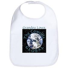 Grandpa Loves Global Bib