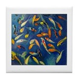 Koi Pond Tile Coaster