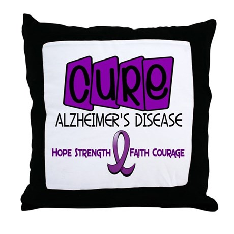 CURE Alzheimer's Disease 1 Throw Pillow
