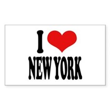 I * New York Rectangle Decal