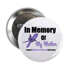 "Alzheimer's Memory Mother 2.25"" Button (10 pack)"