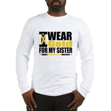 I Wear Gold For My Sister Long Sleeve T-Shirt