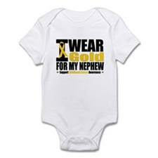 I Wear Gold For My Nephew Infant Bodysuit