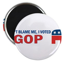 "Don't Blame Me I Voted Republ 2.25"" Magnet (100 pa"